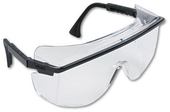 Picture of item UVX-S2500 a Uvex™ by Honeywell Astro OTG® 3001 Safety Glasses,  Black Plastic Frame, Clear Lens
