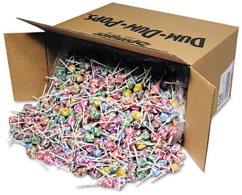 Picture of item SPA-534 a Spangler® Dum-Dum-Pops,  Assorted Flavors, Individually Wrapped, Bulk 30lb Carton