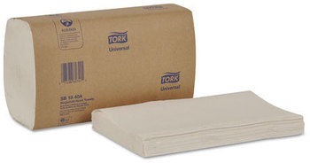 Picture of item 873-505 a Tork® Singlefold 1-Ply Folded Hand Towels. 9 1/10 X 10 3/10 in. White. 4000 count.