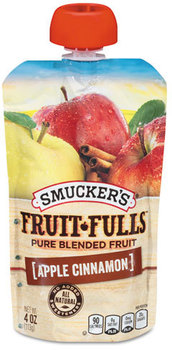 Picture of item SMU-02830 a Smuckers® Fruit Fulls™,  Apple Cinnamon, 4 oz Pouch, 8/Box