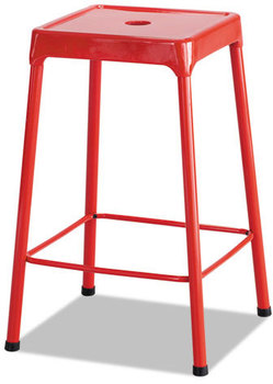 Picture of item SAF-6605RD a Safco® Counter-Height Steel Stool,  Red