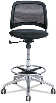 Picture of item SAF-6820BL a Safco® Reve™ Mesh Extended-Height Chair. 26 X 26 X 39 to 49 in. Black.
