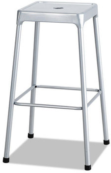 Picture of item SAF-6606SL a Safco® Bar-Height Steel Stool,  Silver