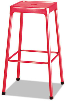 Picture of item SAF-6606RD a Safco® Bar-Height Steel Stool,  Red