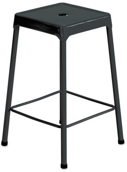 Picture of item SAF-6605BL a Safco® Counter-Height Steel Stool,  Black