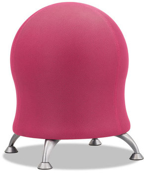 "Picture of item SAF-4750PI a Safco® Zenergy™ Ball Chair,  22 1/2"" Diameter x 23"" High, Pink/Silver"