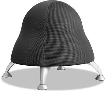 "Picture of item SAF-4755BL a Safco® Runtz™ Ball Chair,  12"" Diameter x 17"" High, Licorice Black"