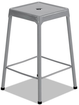Picture of item SAF-6605SL a Safco® Counter-Height Steel Stool,  Silver