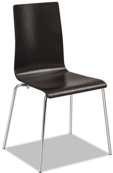 Picture of item SAF-4298ES a Safco® Bosk Stack Chair,  Espresso, 2/Carton