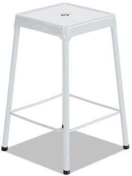 Picture of item SAF-6605WH a Safco® Counter-Height Steel Stool,  White