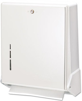 San Jamar® True Fold™ C-Fold/Multifold Towel Dispenser,  White, 11 5/8 x 5 x 14 1/2