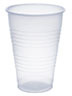 Picture of item 101-715 a Galaxy™ Polystyrene Plastic Cold Cups. 4.7 X 3.4 X 2.1 in. 14 oz. Translucent. 1000 count.