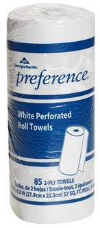 GP Preference® Perforated Roll Towels.  11 X 8.8 in sheets. White. 2550 sheets.