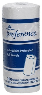 Picture of item 875-406 a GP Preference® Perforated Roll Towels. 11 X 8.8 in sheets. White. 3000 sheets.