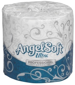 Picture of item GEP-1632014 a Angel Soft Ultra Professional Series™ 2-Ply Premium Embossed Bathroom Tissue. 4.5 X 4 in. White. 8000 sheets.