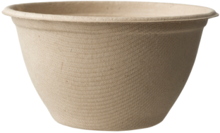 Picture of item WCC-BBSCU12 a Plant Fiber Bowl.  12 oz Fiber Soup Bowl.  500 Bowls/Case.