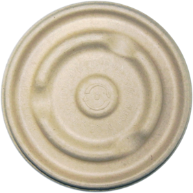 Picture of item WCC-BBLSCU12 a Compostable Plant Fiber Lid.  Fits 12 oz., 16 oz. Fiber Soup Bowls.  50 Lids/Sleeve, 10 Sleeves/Case.