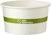 Picture of item WCC-BOPA12 a Compostable Paper Bowl, Ingeo™ Lined.  12 oz. Soup Bowl.  50 Bowls/Sleeve, 10 Sleeves/Case.