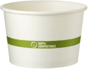 Picture of item WCC-BOPA16 a Compostable Paper Bowl, Ingeo™ Lined.  16 oz. Soup Bowl.  50 Bowls/Sleeve, 10 Sleeves/Case.