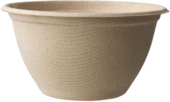 Picture of item WCC-BOSCU6 a Compostable, Biodegradable Plant Fiber Bowl.  6 oz Bowl.  20 Bowls/Sleeve, 50 Sleeves/Case.