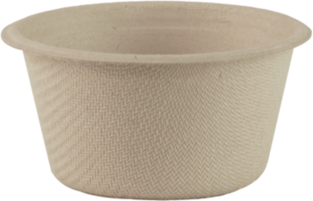 Picture of item WCC-CUSCU2 a Plant Fiber Souffle Cup.   2 oz Fiber Hot Cup.  50 Cups/Sleeve, 40 Sleeves/Case.