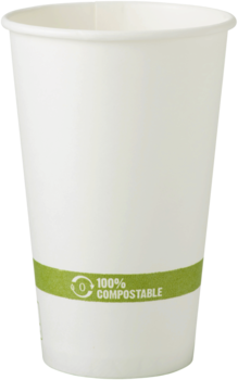 Picture of item WCC-CUPA16 a FSC® Paper Hot Cups. 16 oz. White. 1000 count.