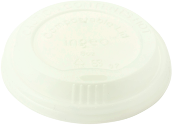 Picture of item WCC-CULCS8 a Compostable PLA Lids for 8 oz Hot Cups. White. 1000 count.