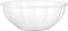 A Picture of product WCC-SBCS24 Ingeo™ Compostable Salad Bowl.  24 oz.  Clear Color.  50 Bowls/Sleeve, 12 Sleeves/Case.