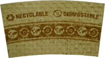 Picture of item WCC-SLPALG a Compostable, Biodegradable Recycled Paper Cup Sleeves.  Fits 10 oz. to 20 oz. Paper Hot Cups.  50 Sleeves/Pack, 20 Packs/Case.